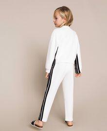 Plush jumpsuit with jacquard logo Bicolour Off White / Black Child 201GJ237B-03