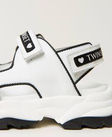 Sandalias de piel con logotipo Hueso Niño 211GCJ110-02