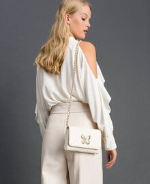 Small quilted leather shoulder bag Papyrus White Woman 192TA7106-0T