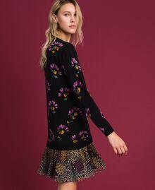 Abito in lana stampata con ricamo Stampa Mix Flower Black Donna 192TT3340-02