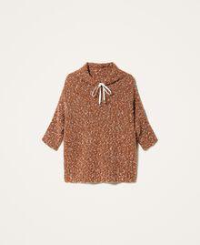 Pull en tweed Rouge Terre cuite Femme 202LI3PGG-0S