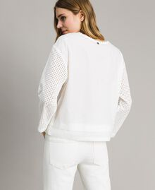Poplin blouse with broderie anglaise embroidery Off White Woman 191ST2049-03