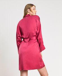 Robe de chambre en satin Bouton De Rose Femme 191LL2DEE-03