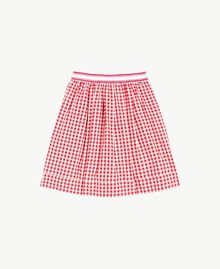 Jupe Vichy Jacquard Vichy / Rouge Grenadier Enfant GS82ZF-01