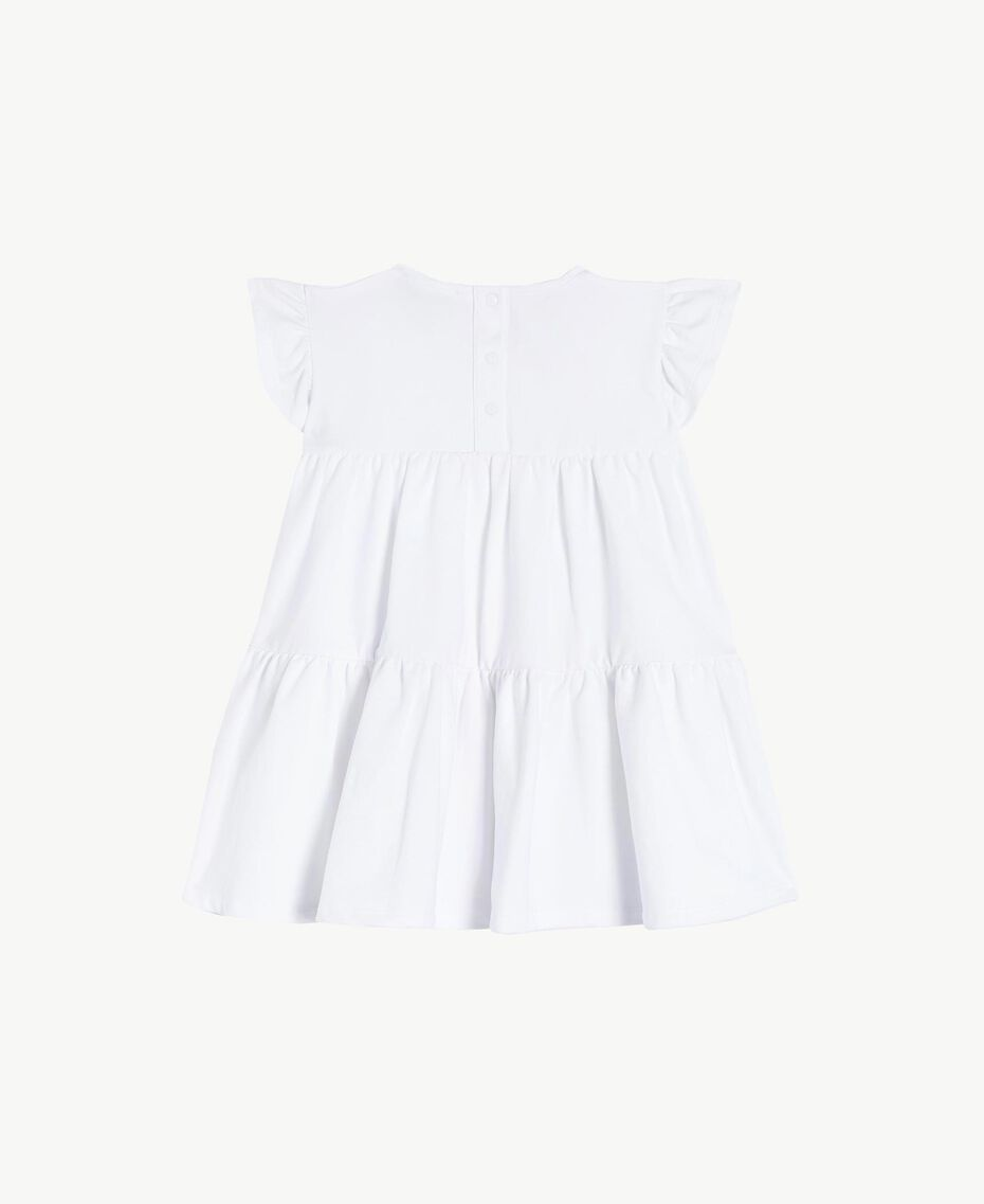 "Rhinestone dress ""Papers"" White Child FS823A-02"