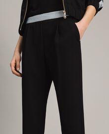 Pantalon cigarette Noir Femme 191LL25AA-03