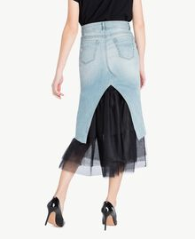 Denim skirt Denim Blue Woman YS82QY-03