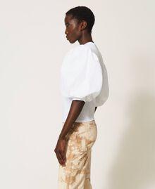 T-shirt with glitter logo print White Woman 211TT2513-02