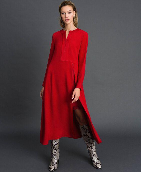 Midi dress with slip