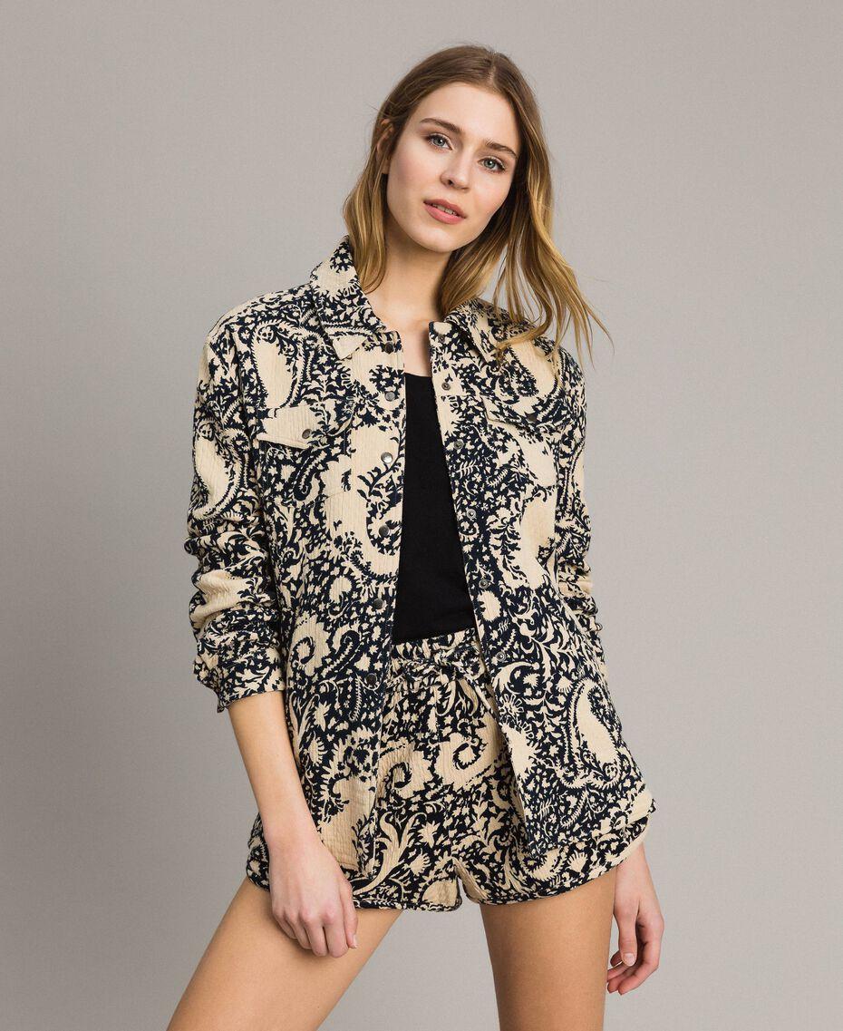 Matelassé cotton print shirt Stamped Print Woman 191TT2190-01