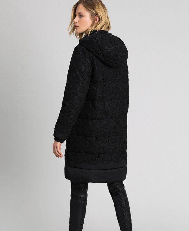 Macramè lace puffer jacket Black Woman 192TP2130-03
