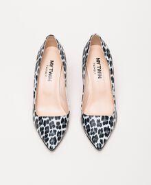 Туфли-лодочки с животным принтом Принт Животный Лилия / Черный женщина 201MCP01N-05