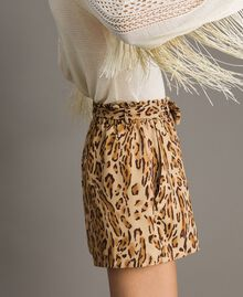 "Animal print shorts ""Petra Sandstone"" Brown Animal Print Woman 191LM2UJJ-01"