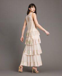 Robe longue en georgette ornée de sequins Rose Bouton Femme 191TP2580-04