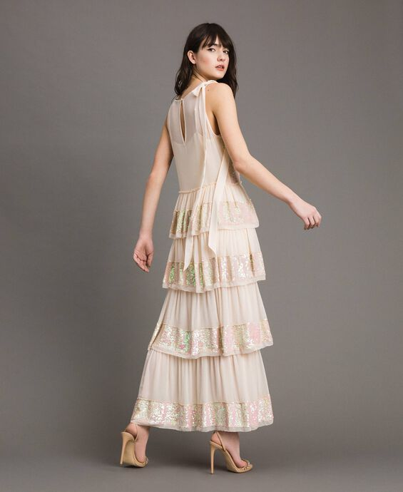 Georgette sequin long dress