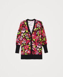 Maxi cardigan floral Imprimé Fleur Fuchsia Femme 202TP3503-0S