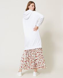Maxi hoodie with logo and ladybug embroidery White Woman 202TP2806-03