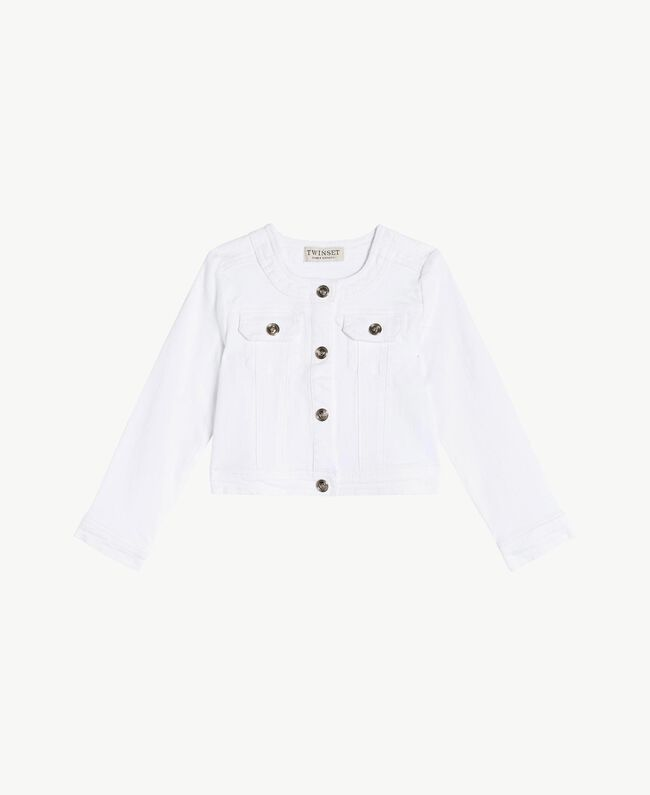 """Cotton jacket """"Papers"""" White Child FS82CN-01"""