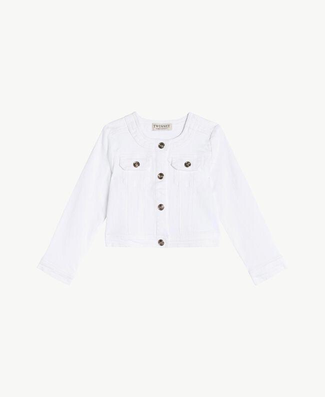 """Veste coton Blanc """"Papers"""" Enfant FS82CN-01"""