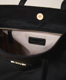 Satin Twinset Bag shopper with shoulder strap Black Woman 202TB7200-04