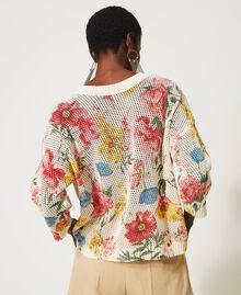 Maglia-cardigan con stampa a fiori Stampa Fiori Di Campo Donna 211TT3141-04