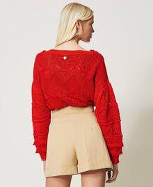 "High-Waist-Shorts ""Cuban Sand""-Rosa Frau 211TT2073-03"