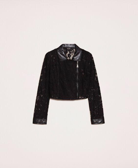 Байкерская куртка из кружева макраме