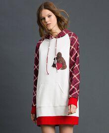 'Tury x Twinset' maxi sweatshirt White / Checks Woman 192LL21CC-01