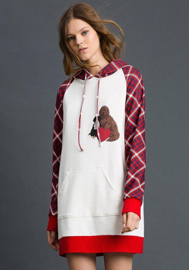 'Tury x Twinset' maxi sweatshirt