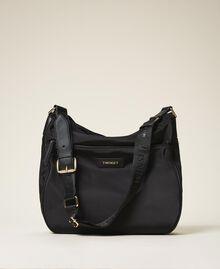 Technical satin hobo bag Black Woman 202TD8080-01
