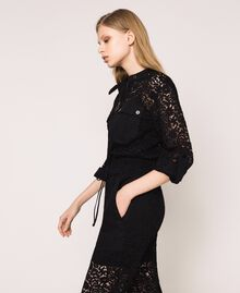 Macramé lace jumpsuit Black Woman 201TP2195-03