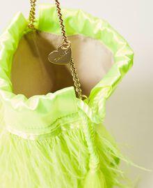 "Атласная сумка с перьями Желтый ""Led"" женщина 211TD8220-05"