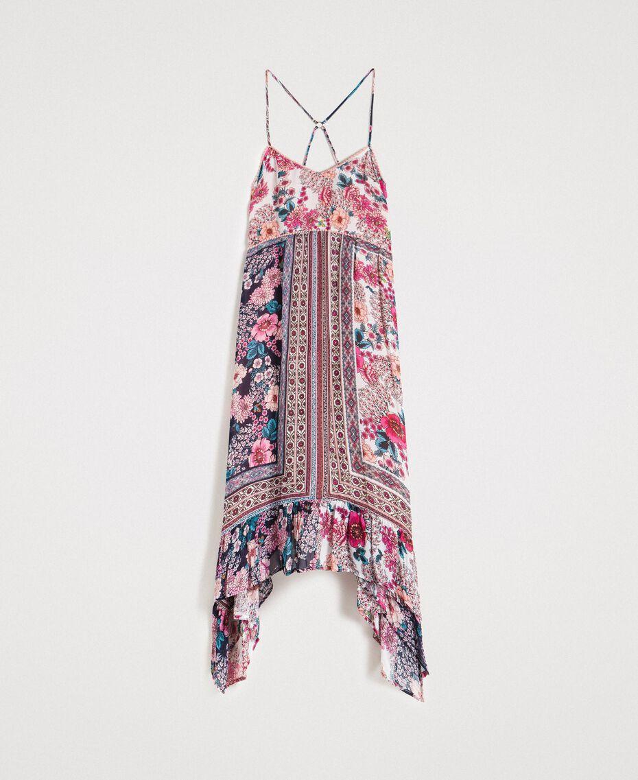 """Robe en mousseline avec imprimé foulard Imprimé Foulard Fuschia """"Rose Psychédélique"""" Femme 191LB2HEE-0S"""