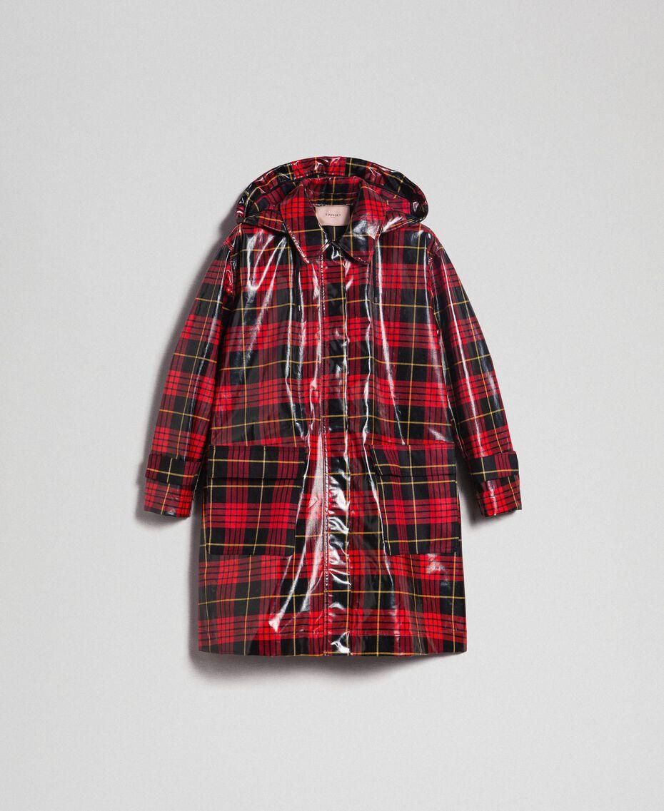 Manteau à carreaux Jacquard Tartan Grenadier Femme 192TP2550-0S