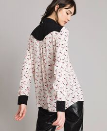 Flamingo print shirt Flamingo Print Woman 191TP2762-03