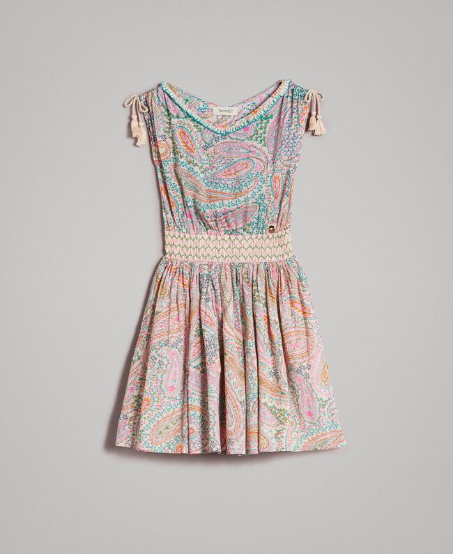 Muslin dress with paisley print Paisley Print Child 191GJ2510-01