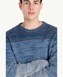 Pullover aus Wolle Dégradé-Blau UA73B1-04