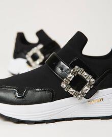 Scarpe running con fibbia gioiello Nero Donna 202TCP012-04