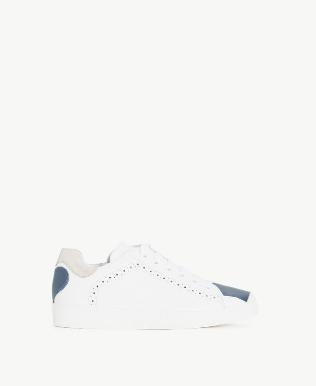 "Heart sneakers Two-tone ""Papyrus"" White / Ocean Blue Child HS88C1-01"