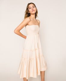 "Skirt-dress with flounces ""Waterfall"" Blue Woman 201LB2BEE-04"