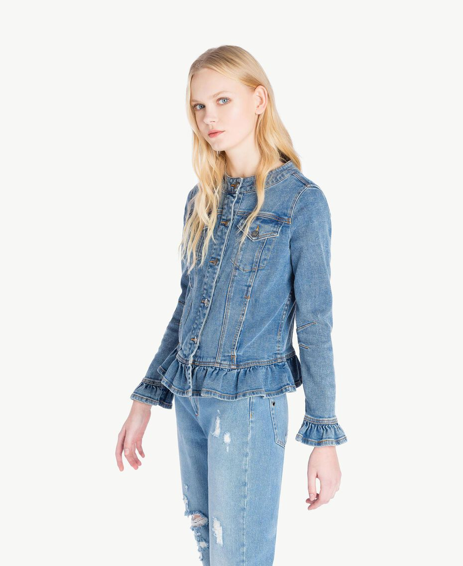 Denim jacket Denim Blue Woman JS82T1-02