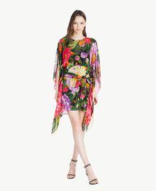 "Kaftan mit Blumenprint ""Summer Garden""-Print Frau TS824Q-05"