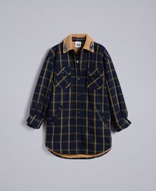 Tartan jacket Bicolor Blue Night / Gold Fancy Tartan Woman YA82EP-0S