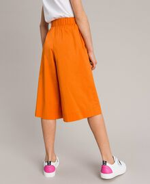 "Jupe-pantalon en popeline stretch ""Orange Estivale"" Enfant 191GJ2410-03"