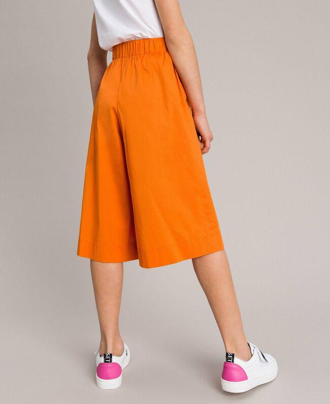 "Jupe-pantalon en popeline stretch ""Orange Estivale"" Enfant 191GJ2410-03"