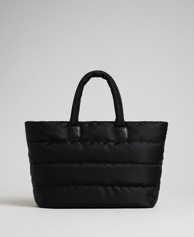 Quilted shopper with charms Black Woman 192TO8060-04