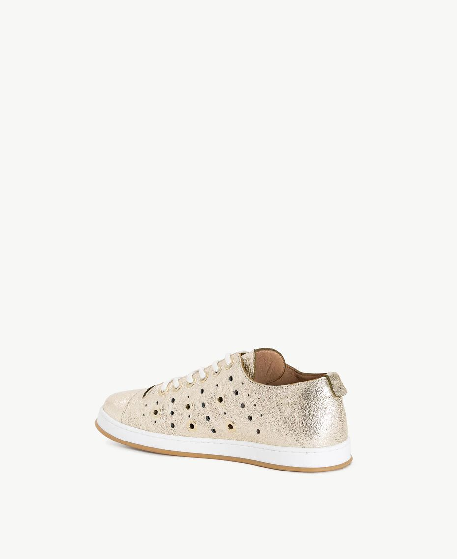 TWINSET Laminated sneakers Platinum Woman CS8PJE-03