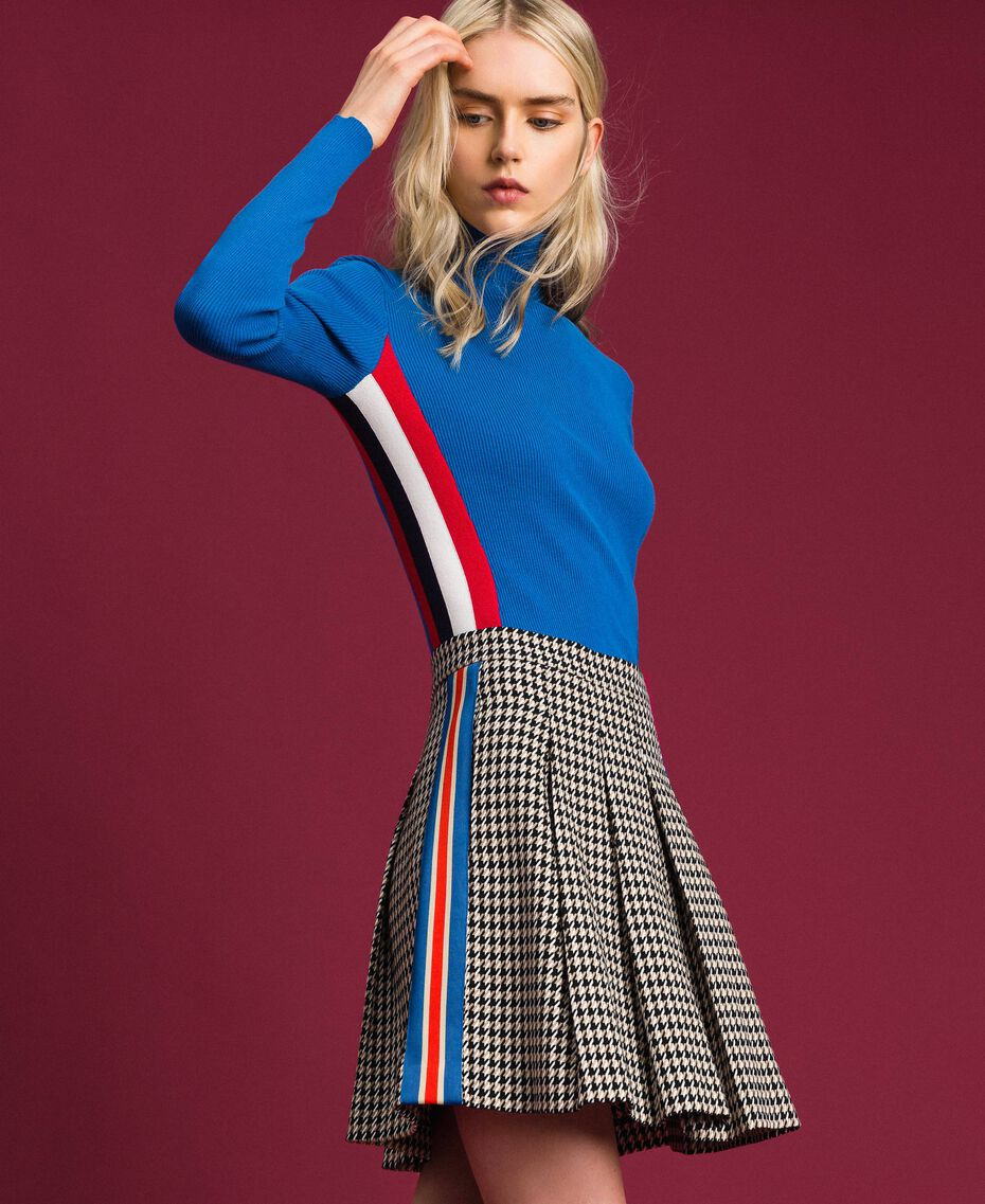 Houndstooth pleated skirt Lily Houndstooth / Creme Caramel Woman 192MT2052-02