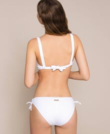 Triangle bikini top with sequins White Woman 201LMMA33-03