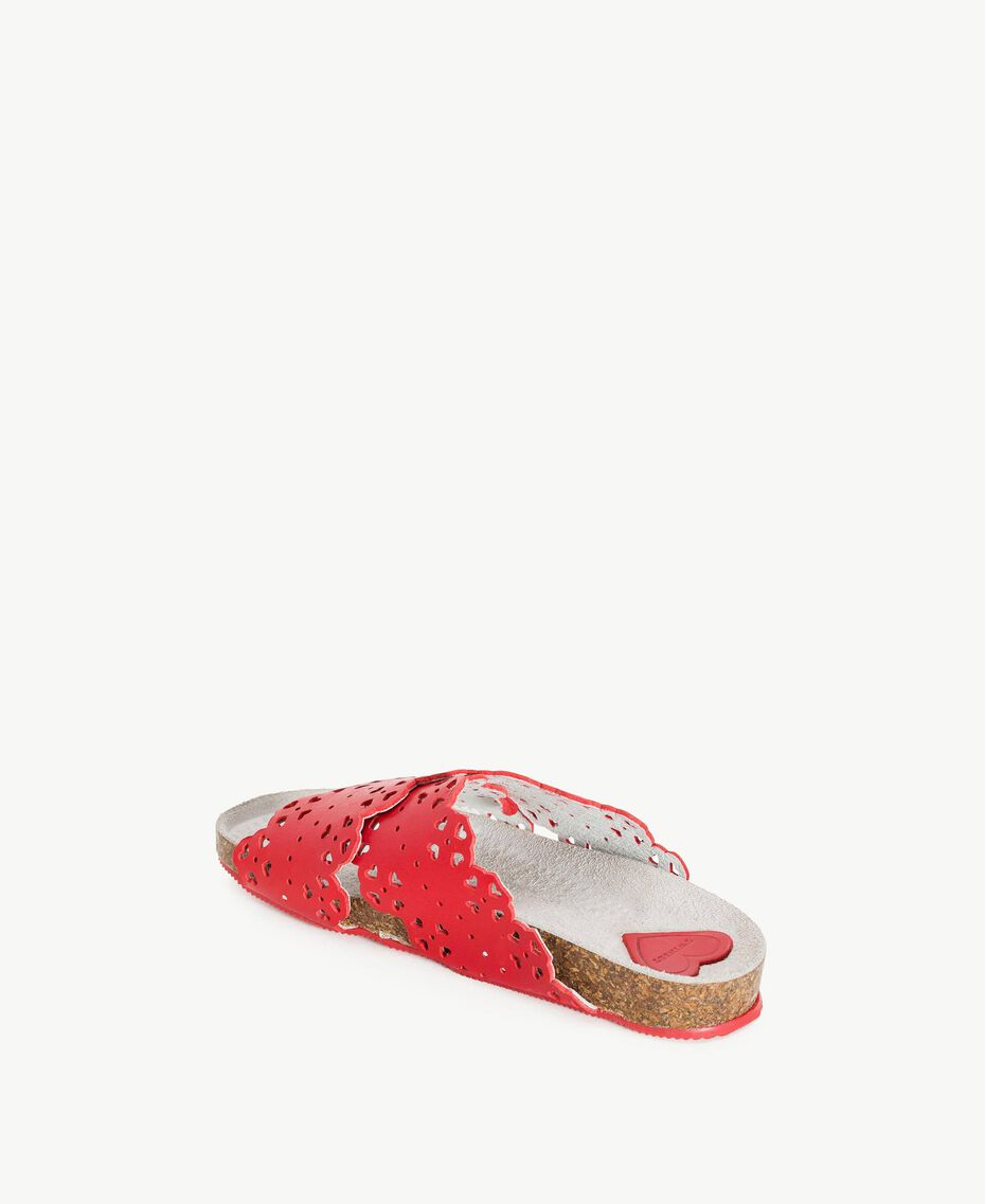 Mules feston Rouge Grenade Enfant HS88CS-03